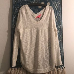 Long sleeve, Off-White knitted sweater in size 2X